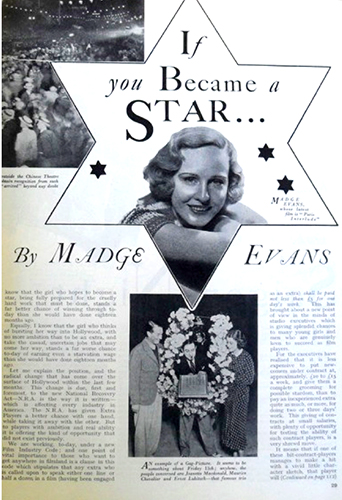 Image 8. Britannia and Eve magazine, June 1935. An editorial promoting the celebrity influence on choosing beauty products and lifestyle