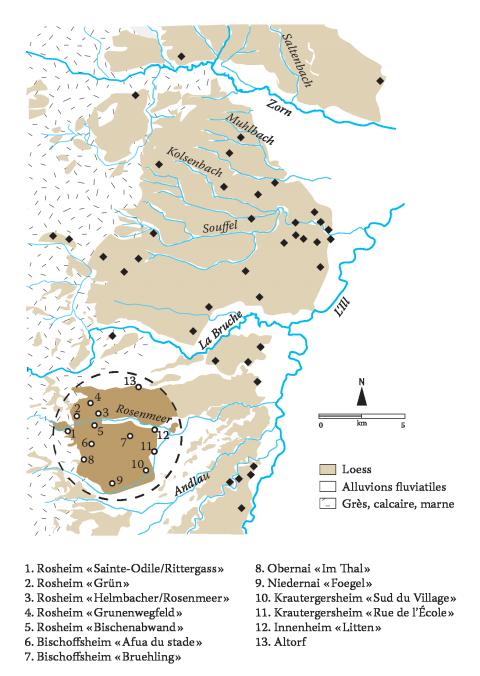 Carte Calcaire Alsace.Les Villages Du Neolithique Ancien En Alsace Un Etat De La