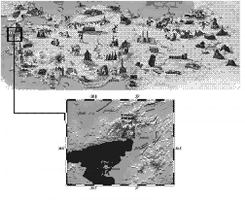 Figure 1: Study location on the archaeological map of Turkey.