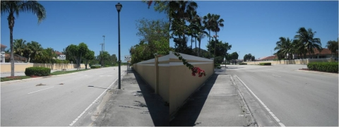 Figure 1. Walled street view in Doral