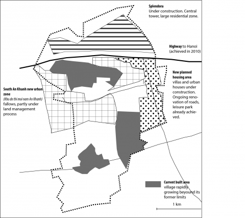 Figure 2: Planned urbanization projects in An Khanh
