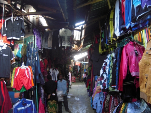 Figure 11. Alley in the new Mwanjelwa market