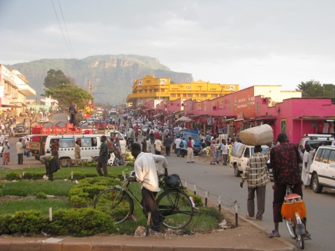 Figure 2. Mbale Main Street on market day