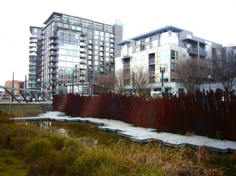 Figure 10. Hoyt Yards in Portland, Oregon illustrates how to incorporate natural settings into urban environment.