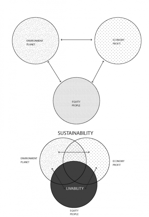 Figure 2. Livability as a critical component of sustainability.