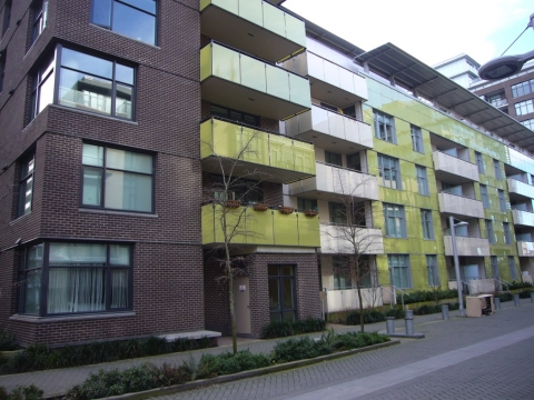 Figure 8. Co-operative housing in Olympic Village in Vancouver's Southeast False Creek. The affordability of new neighborhoods is a concern for the majority of residents in all of the neighborhoods surveyed.