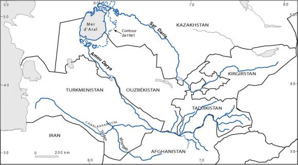 Fond Carte Asie Centrale.Continuite Et Discontinuite Dans La Politique De L Eau En