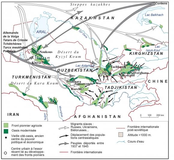 Fond Carte Asie Centrale.L Eau Et L Amenagement Du Territoire En Asie Centrale