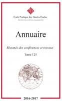 Couverture Annuaire EPHE-SR t. 125