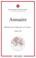 Annuaire EPHE – Sciences Religieuses, t. 128