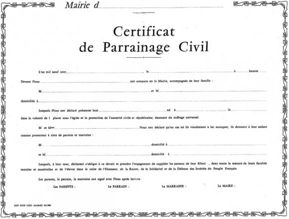 Préférence Le parrainage civil : une pratique française revisitée KZ03