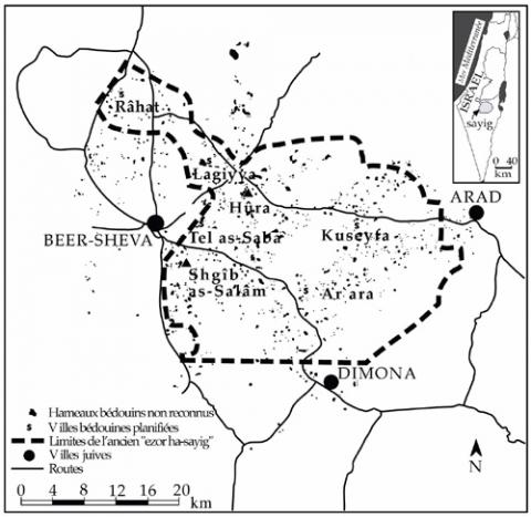 Bedouin Planned Townships and Unrecognized Villages in 1990