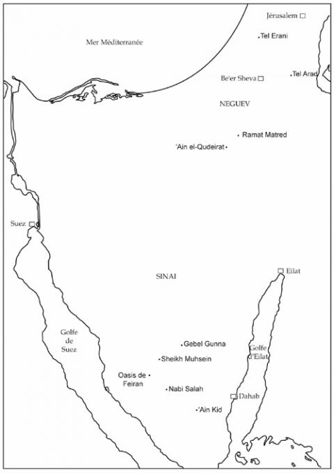 Fig. 10, Sinai map.