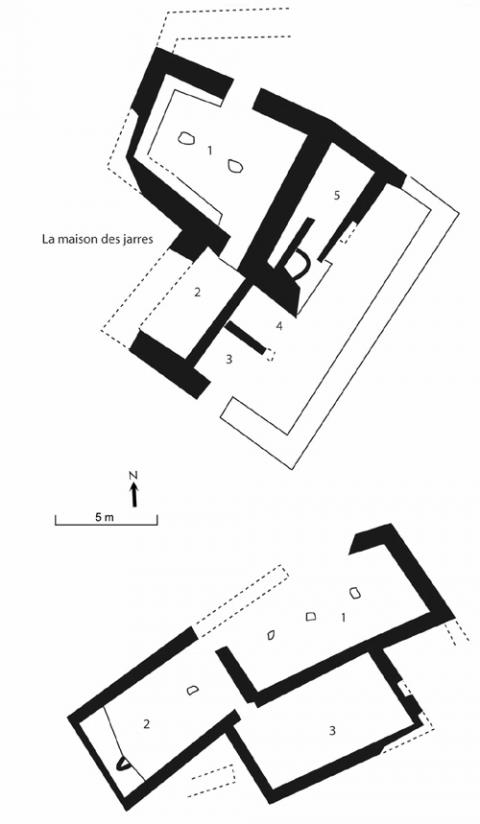 Fig. 7, Pluricellular houses from Tell el-Farah (Bonn Greenwald, 1976).