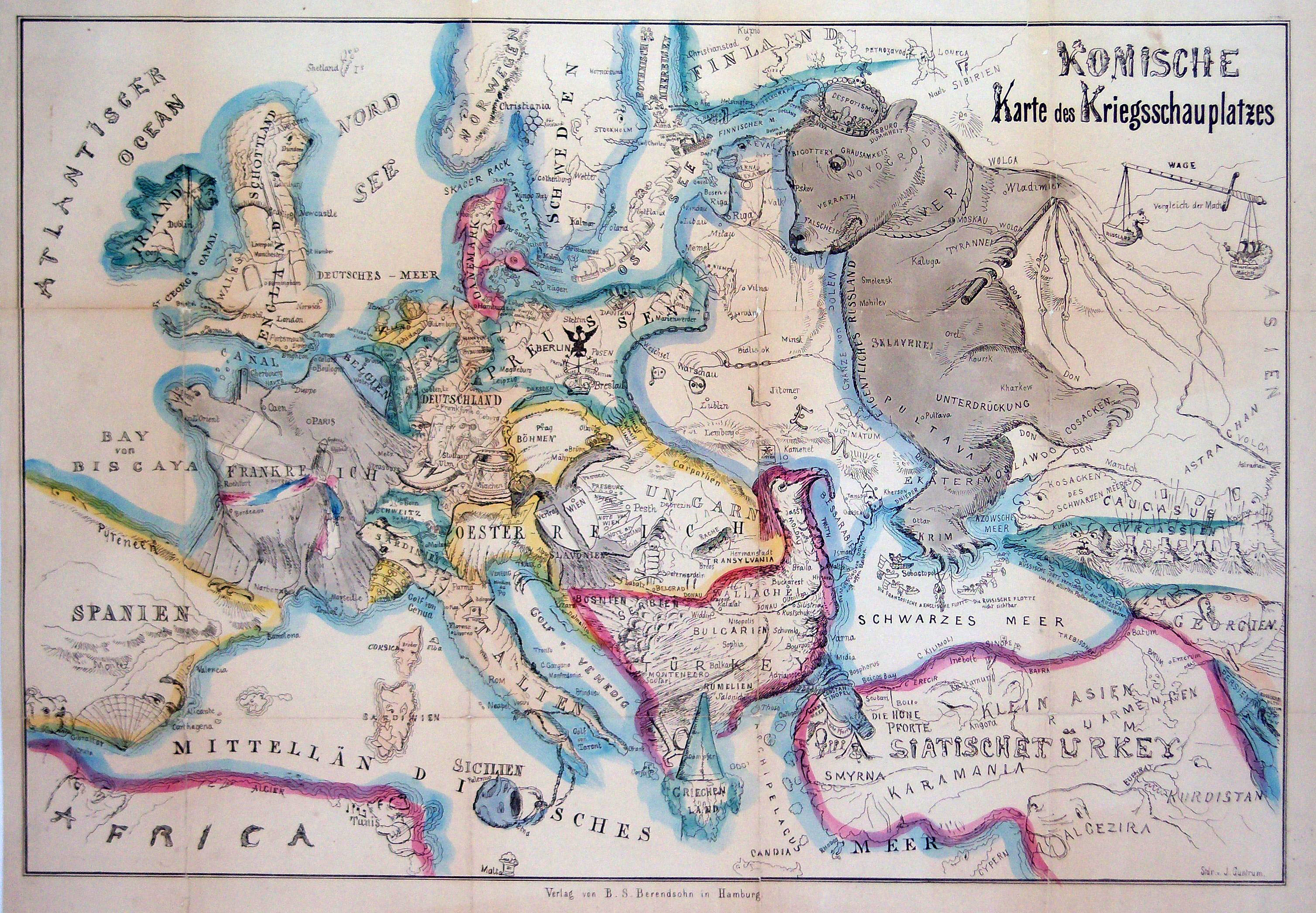 Bringing The Map To Life European Satirical Maps 1845 1945