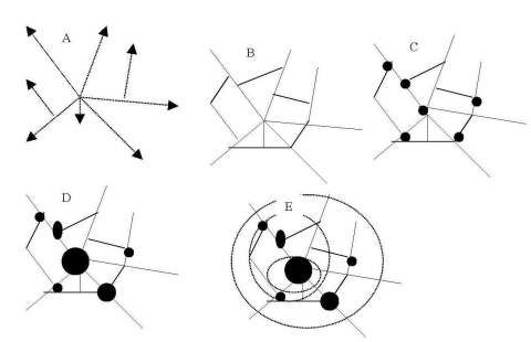 Figure 1. Stages in the analysis of a regional system. Based on Haggett, 1965.
