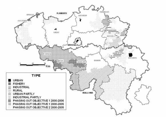 eu regional policy eligible regions in belgium 2000 2006