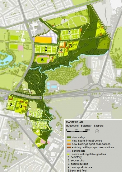 Figure 4. Masterplan, Maxwan Architects, 1010, Karres & Brands landscape architects and Goudappel Coffeng.