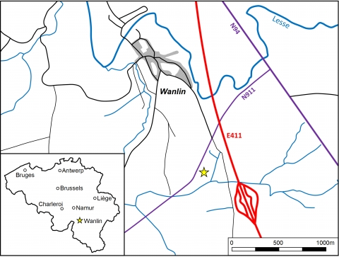Figure 2. Location of Wanlin site.