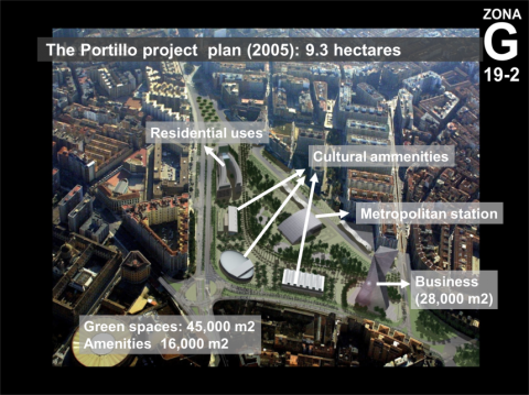 Figure 4. The development plan for the Portillo (old station) area.