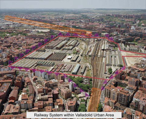 Figure 7. The integration of the railway in the centre of Valladolid.