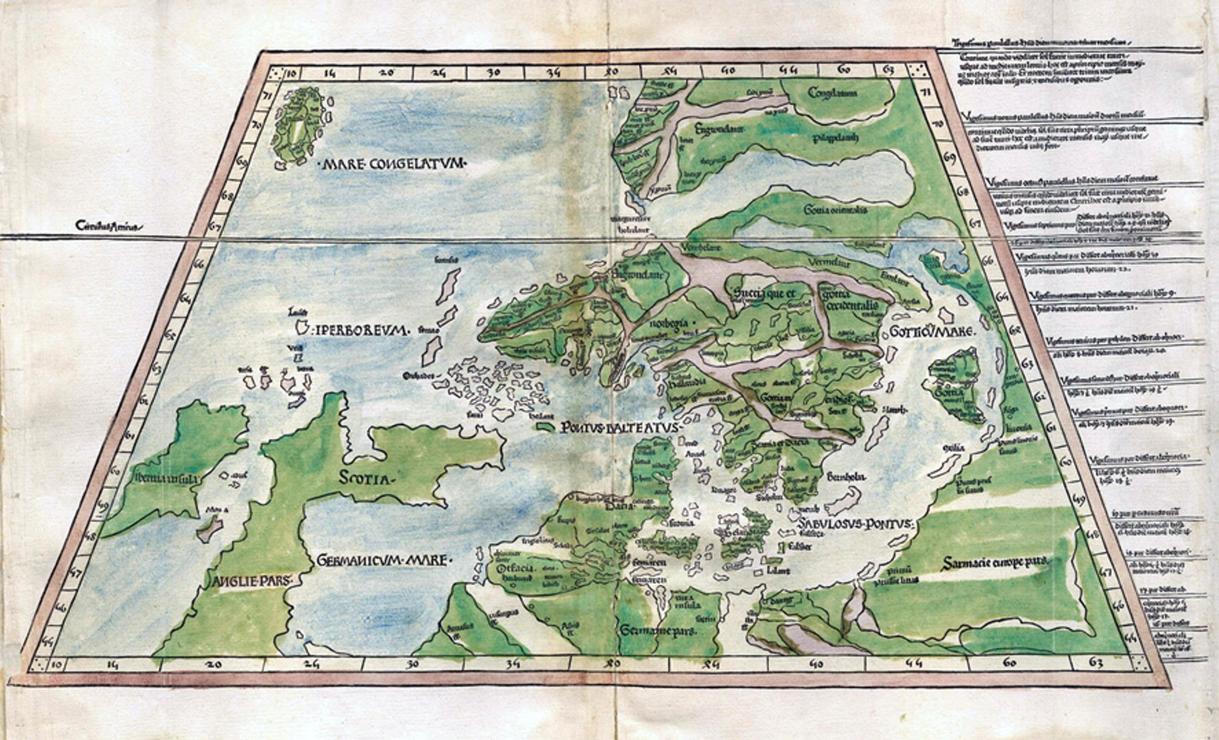 Unknown europe the mapping of the northern countries by olaus table des illustrations sciox Choice Image