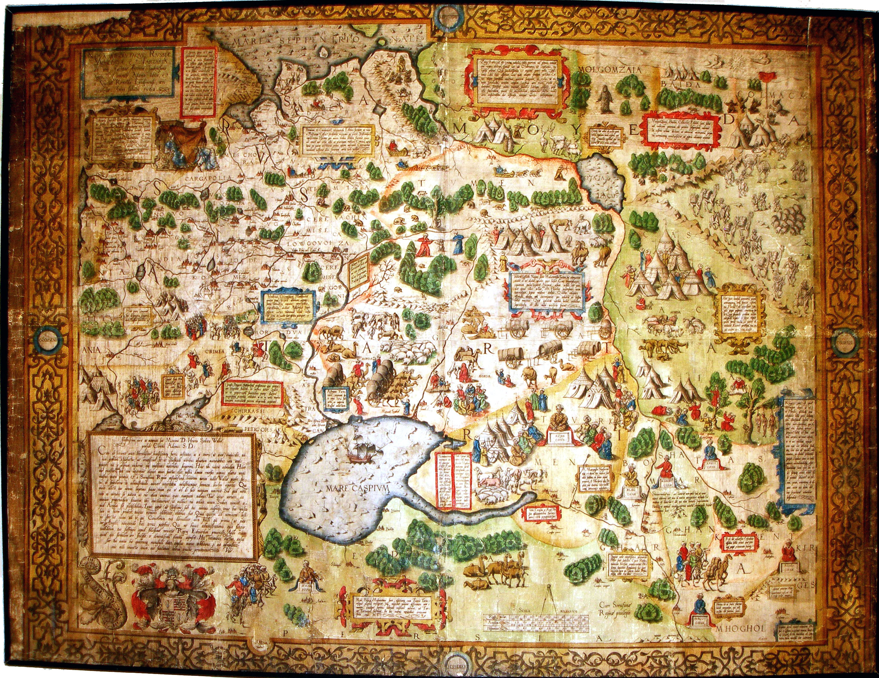 Anthony Jenkinson S Unique Wall Map Of Russia 1562 And Its