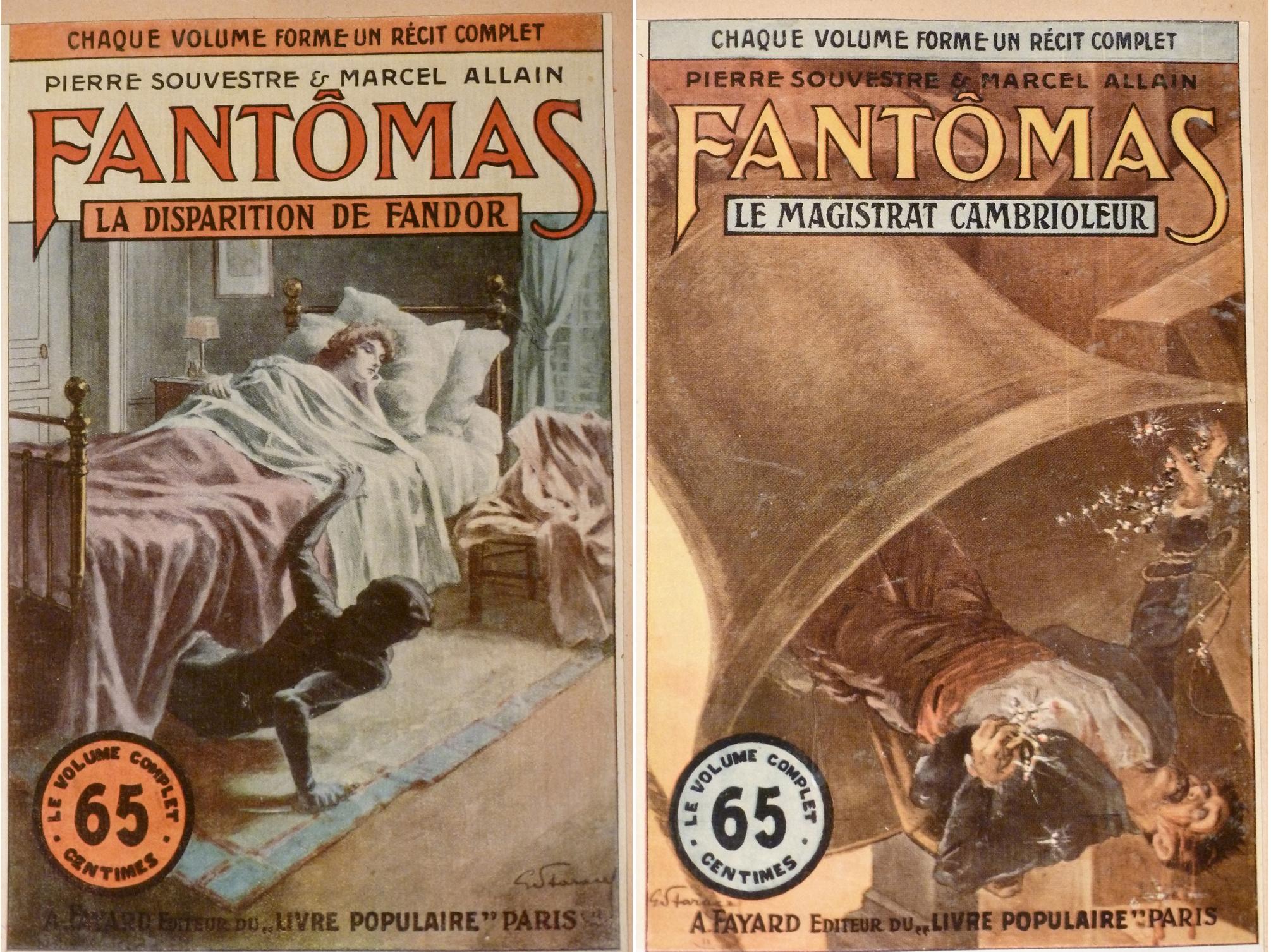 Etude Des Couvertures De La Serie Des Fantomas Dessinees Par