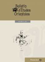 Bulletin d'études orientales, Volume LX, 2011