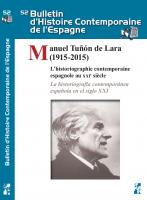 Couverture, Bulletin d'Histoire Contemporaine de l'Espagne, n°52   2017