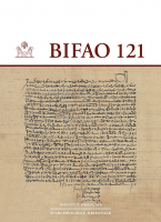 Couverture BIFAO, 121 | 2021