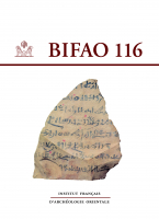Couverture BIFAO, 116 | 2016