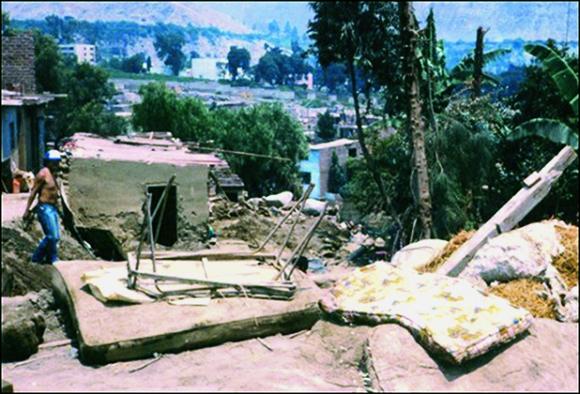 Huaycos En 1987 En El Distrito De Lurigancho Chosica Lima Perú