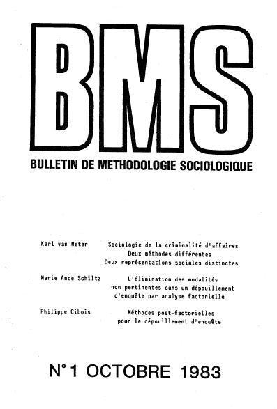 Figure 1: Cover of the BMS, number 1, October 1983
