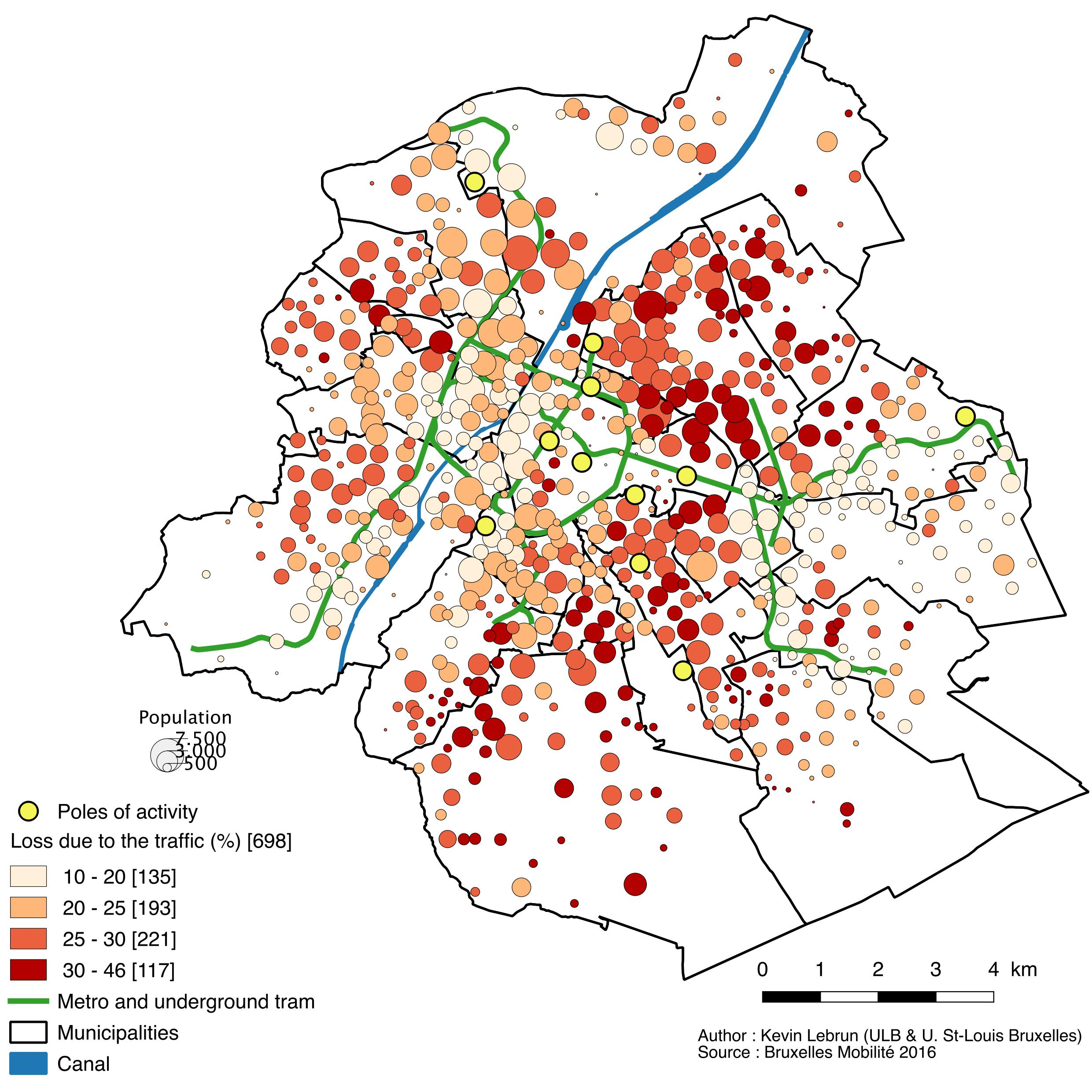 Travel time by public transport in Brussels: the ...