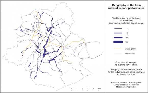 The direct cost and geography of Brussels mass transports operating
