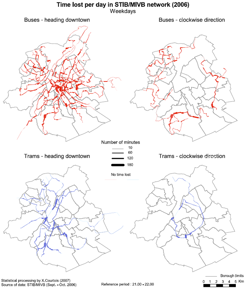 The (in)efficiency of trams and buses in Brussels: a fine