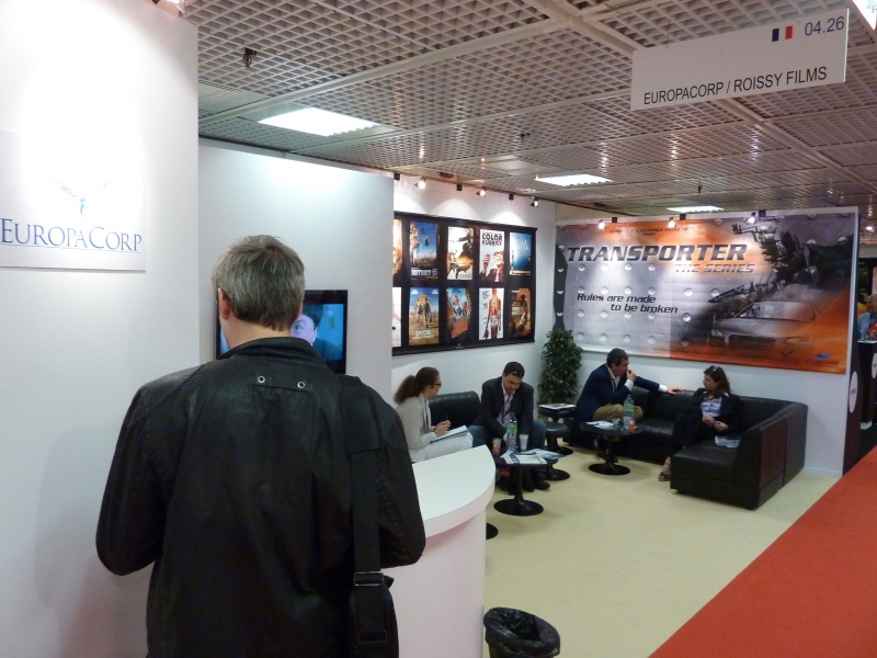 Fig. 5. Europacorp/Roissy Films (cinema export company) booth at MIPTV in 2011
