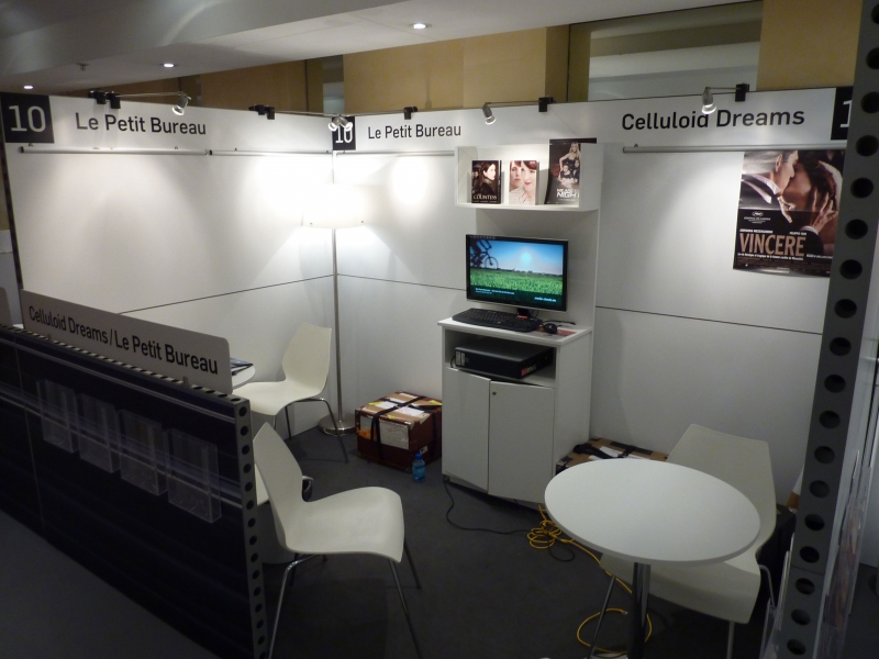 Fig. 6. Celluloid Dreams (cinema export company) booth at MIPTV in 2011