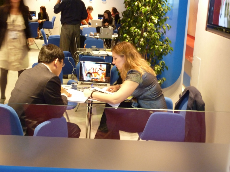 Fig. 7. Business meetings at MIPTV in 2011