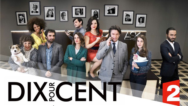 "Fig. 1. Advertisement for Season 2 of the French Series ""Call My Agent"" (April 2017)"