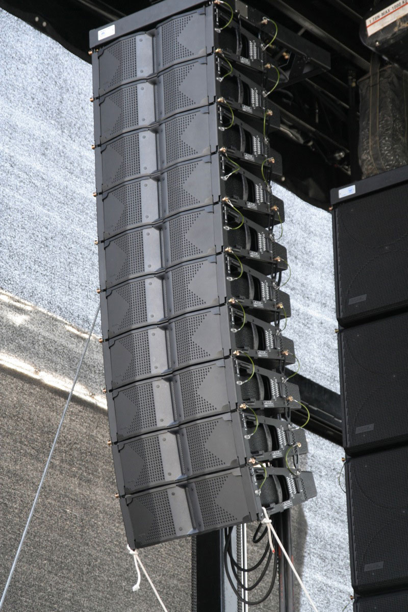 Fig. 3. Exemple d'un système Line Array
