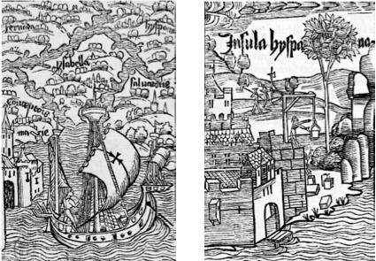Figure n° 2. La pérégrination troyenne des Espagnols aux Amériques
