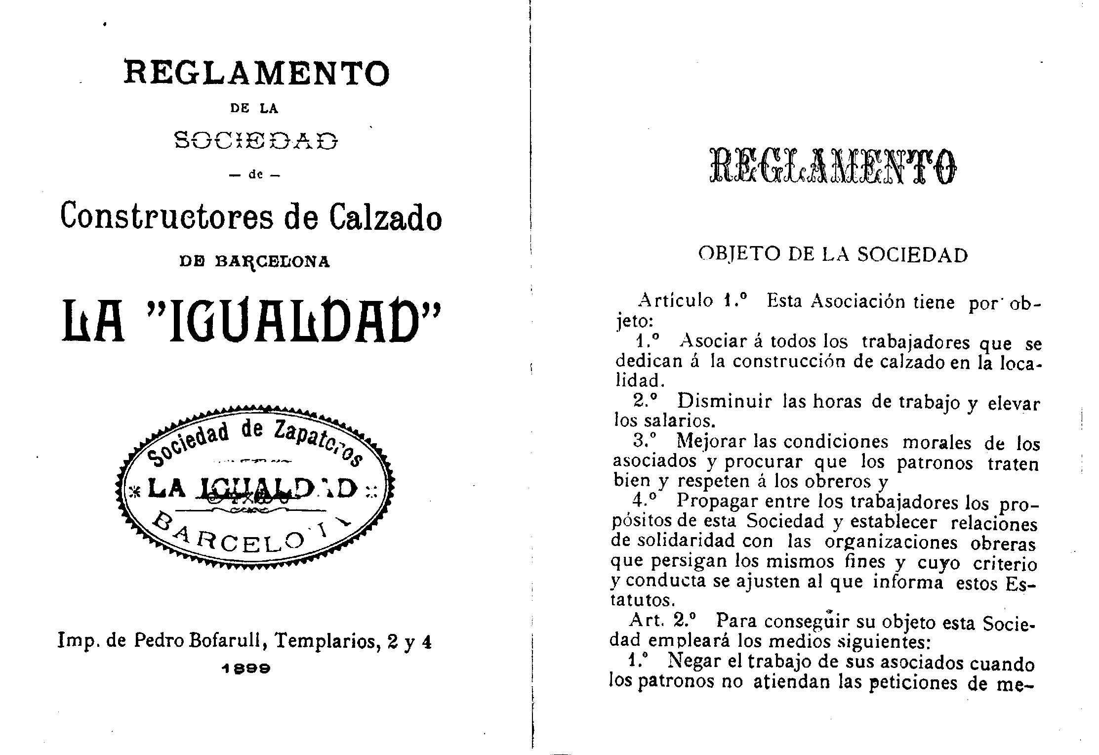 La primera gran huelga de los constructores de calzado de Barcelona ...