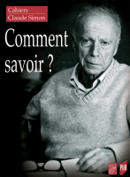 Couverture Cahiers Claude Simon n° 14