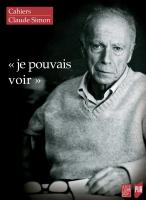 Couverture Cahiers Claude Simon n° 15