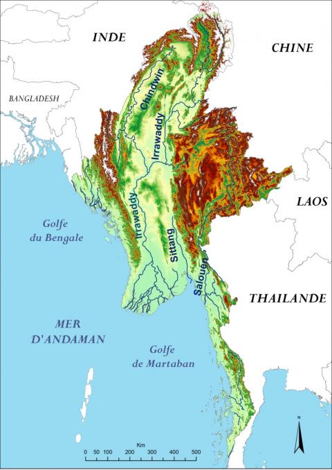 Birmanie Carte Regions.Le Fleuve Irrawaddy Facteur D Integration De La Birmanie