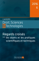 Cahiers Droits, Science & Technologie n° 6