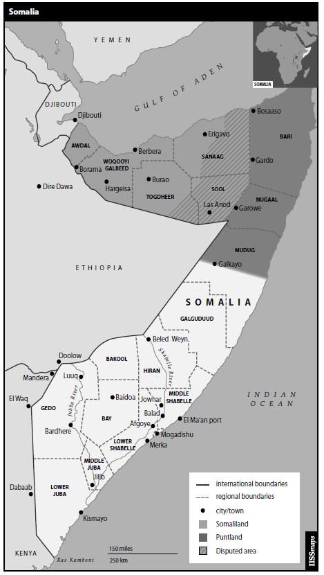 Map 2: Political map of Somalia