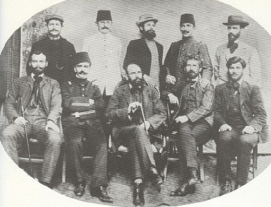 7. Sandanski, sitting in the middle, his friends and Young Turkish leaders